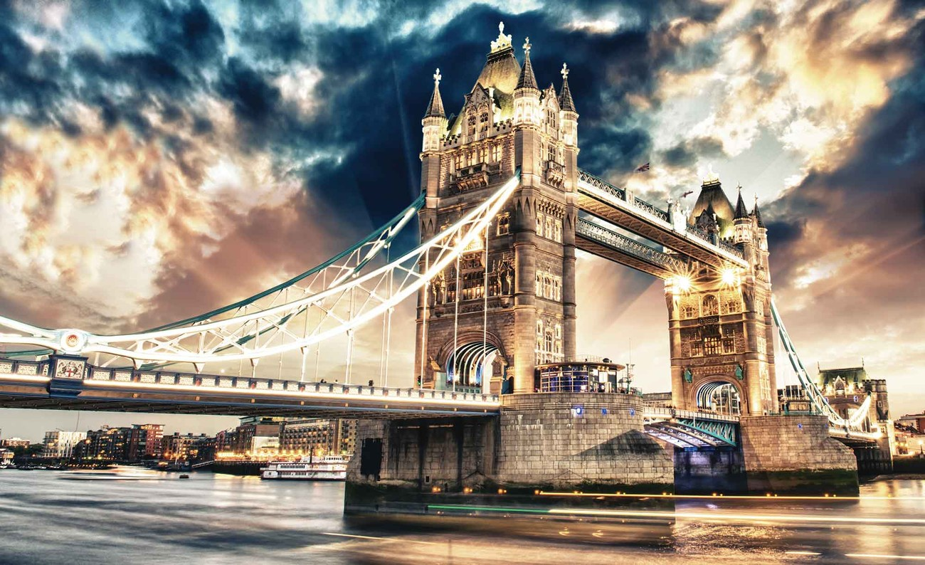 ville de londres tower bridge poster mural papier peint acheter le sur. Black Bedroom Furniture Sets. Home Design Ideas