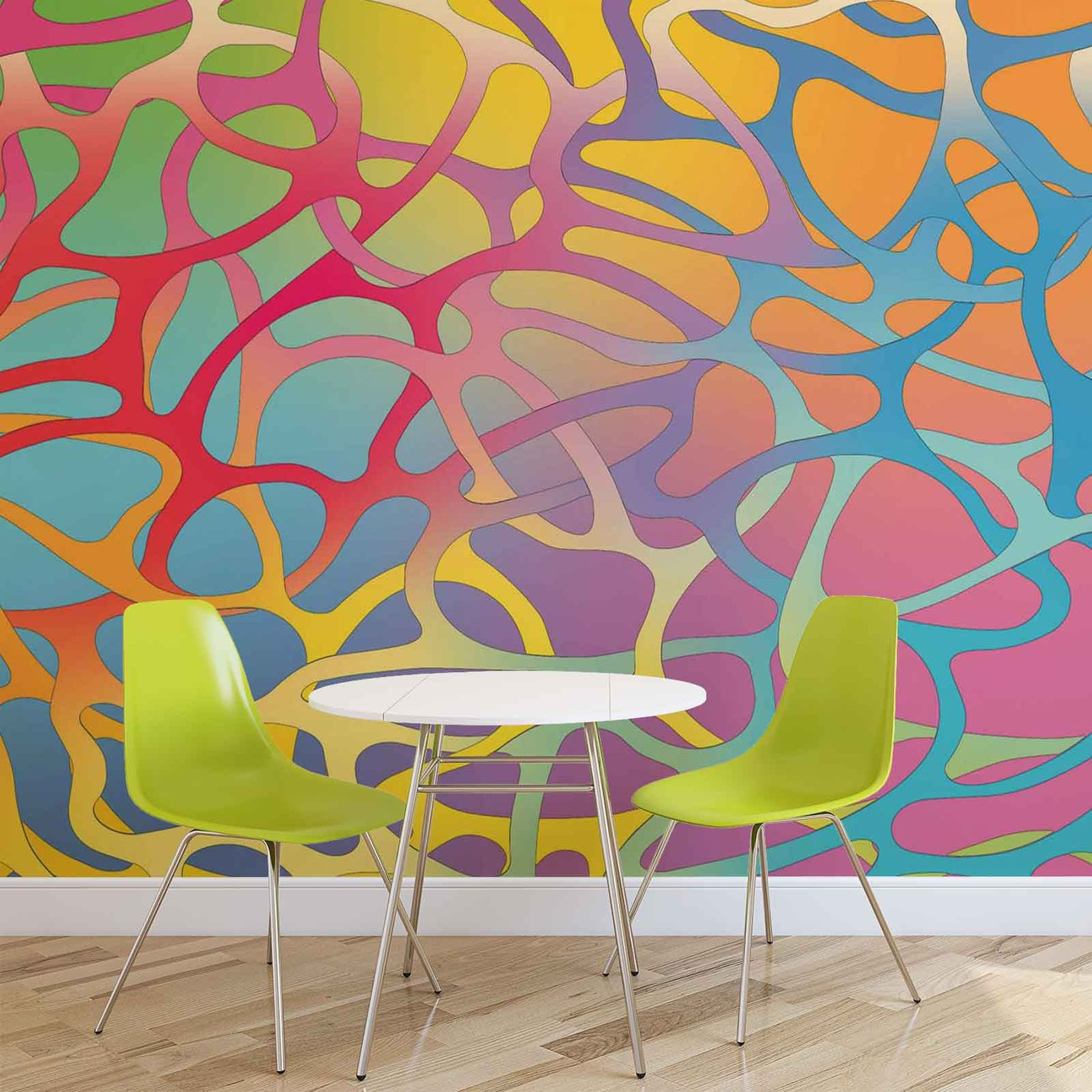 Abstract art wall paper mural buy at for Abstract mural painting