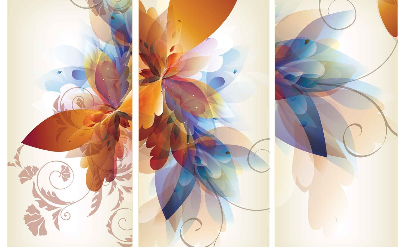Abstract flower wall paper mural buy at europosters for Mural flower