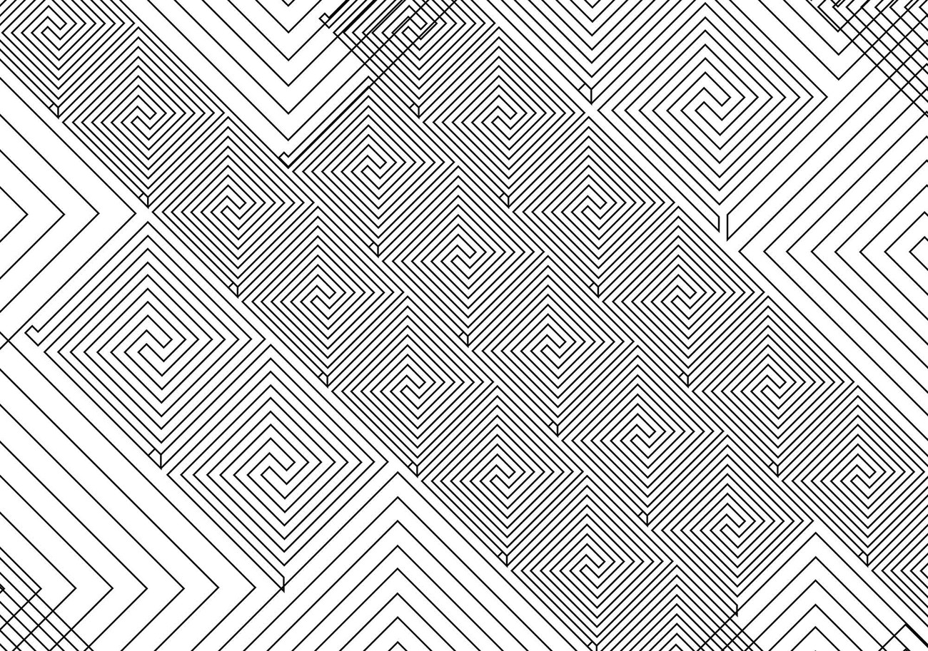 Abstract pattern black white wall paper mural buy at for Black and white mural prints
