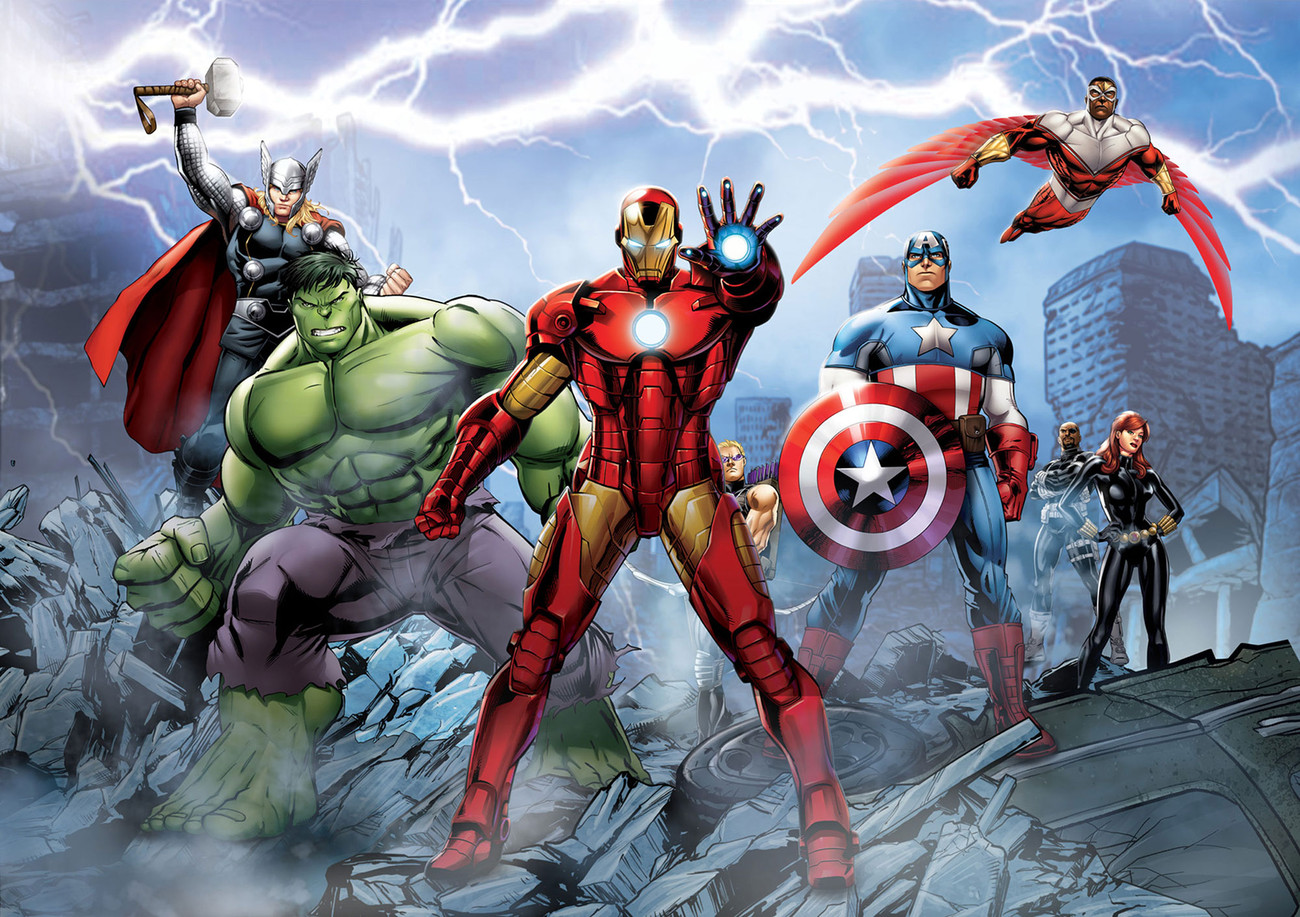 Avengers marvel wall mural buy at europosters for Avengers mural poster