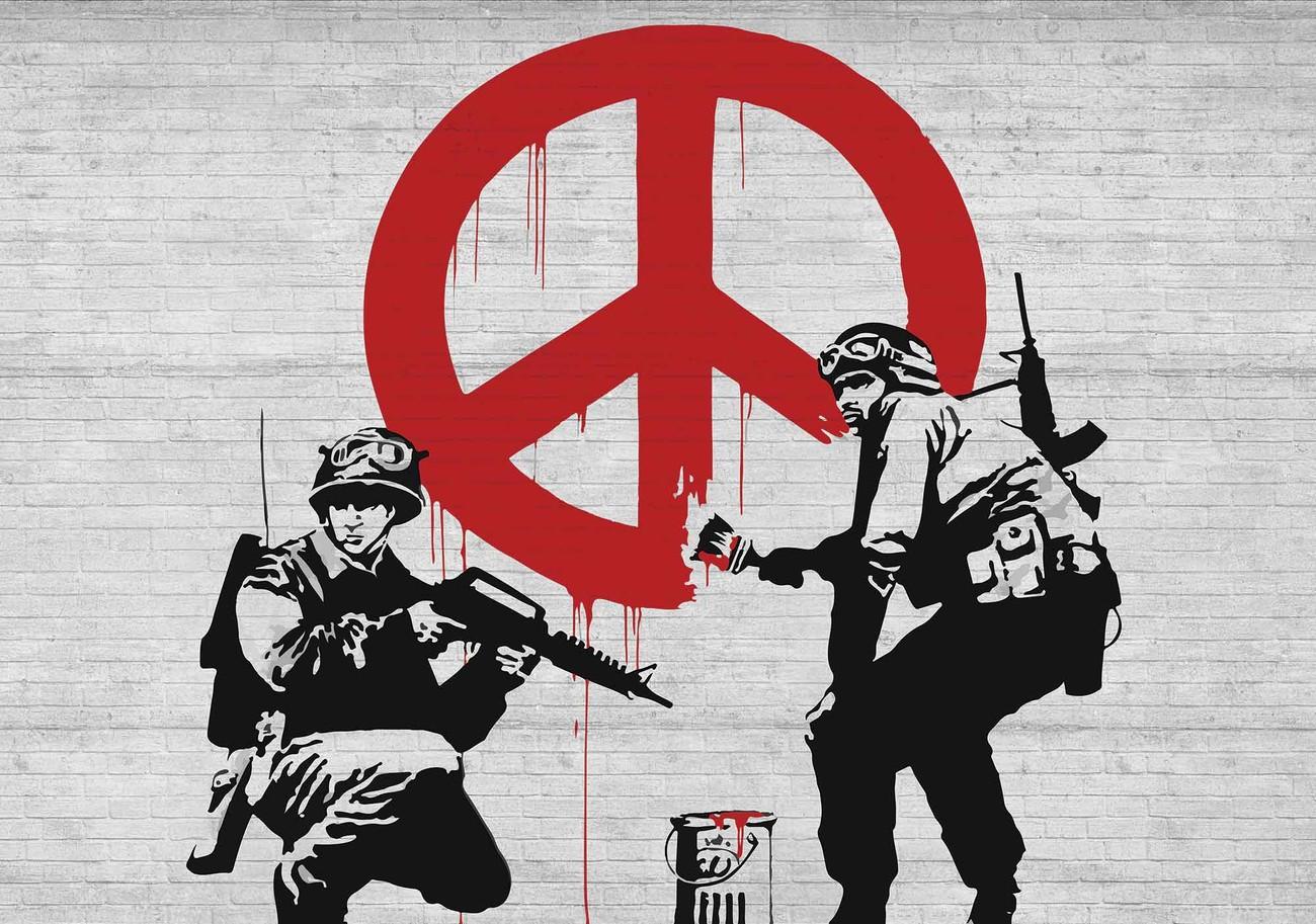 Banksy Graffiti Wall Paper Mural | Buy at UKposters