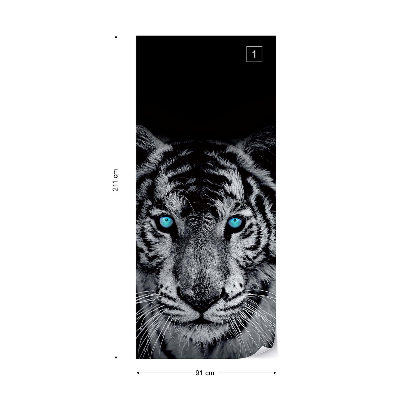 Photo Wallpaper Mural Non-woven 10202/_VE Tiger Tiger Animal Blue Eyes Wildness G