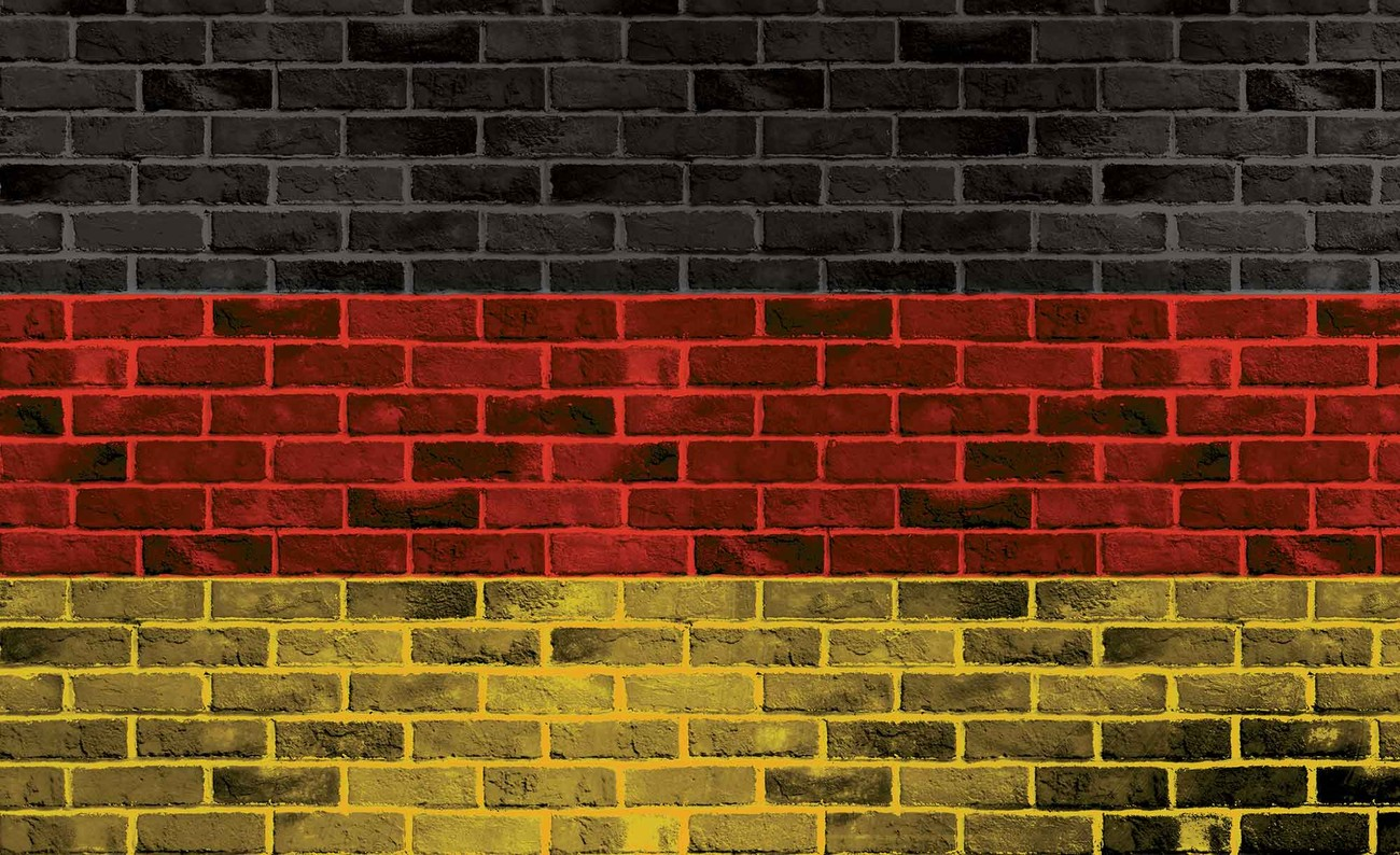 Brick German Flag Wall Paper Mural