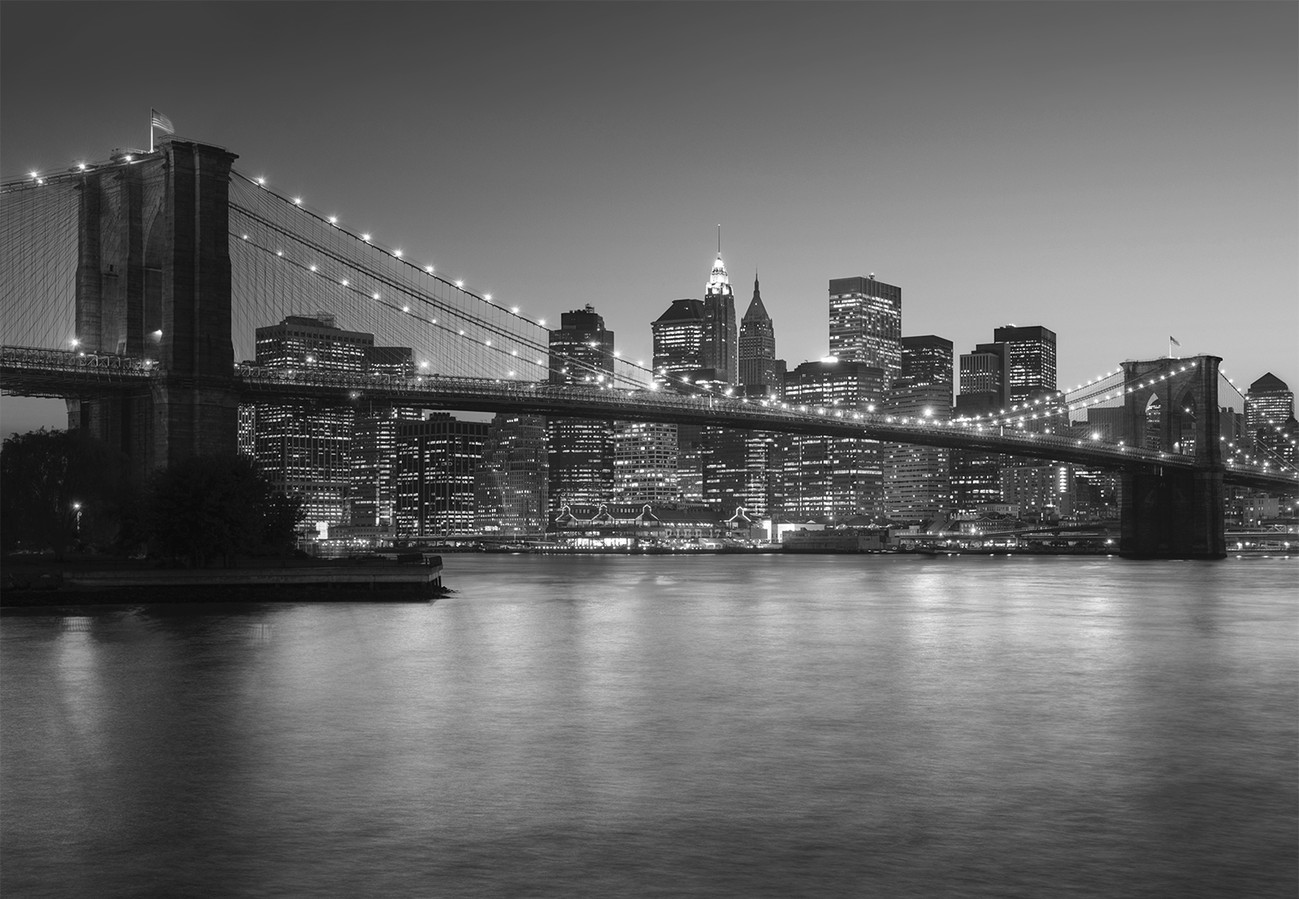 Brooklyn bridge new york wall mural buy at europosters for Brooklyn bridge mural wallpaper