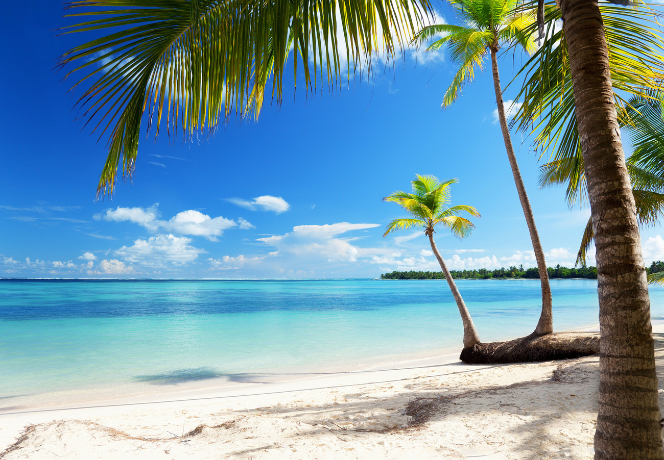 Hd Tropical Island Beach Paradise Wallpapers And Backgrounds: CARIBBEAN SEA Wall Mural