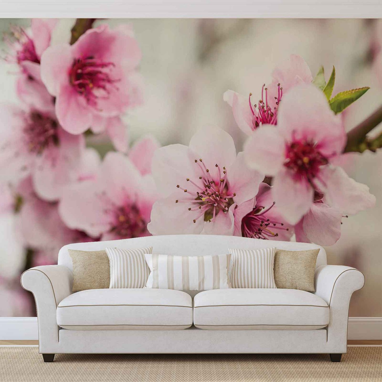 Cherry Blossom Flowers Wall Paper Mural Buy At Europosters