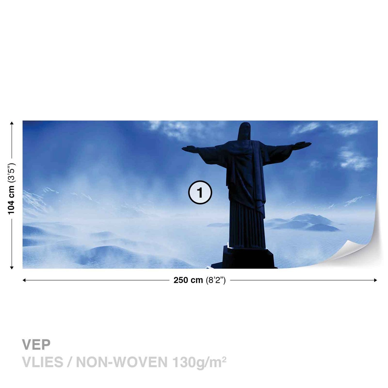 Wall Murals Cityscapes Christ Redeemer Rio Wall Paper Mural Buy At Europosters