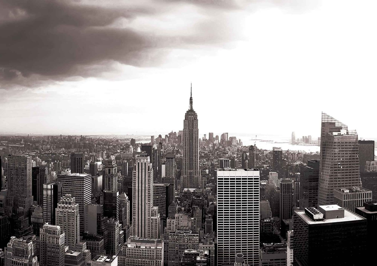 City new york skyline empire state wall paper mural buy for City skyline wall mural