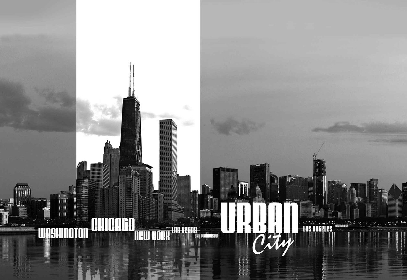 City skyline wall paper mural buy at europosters for City scape wall mural