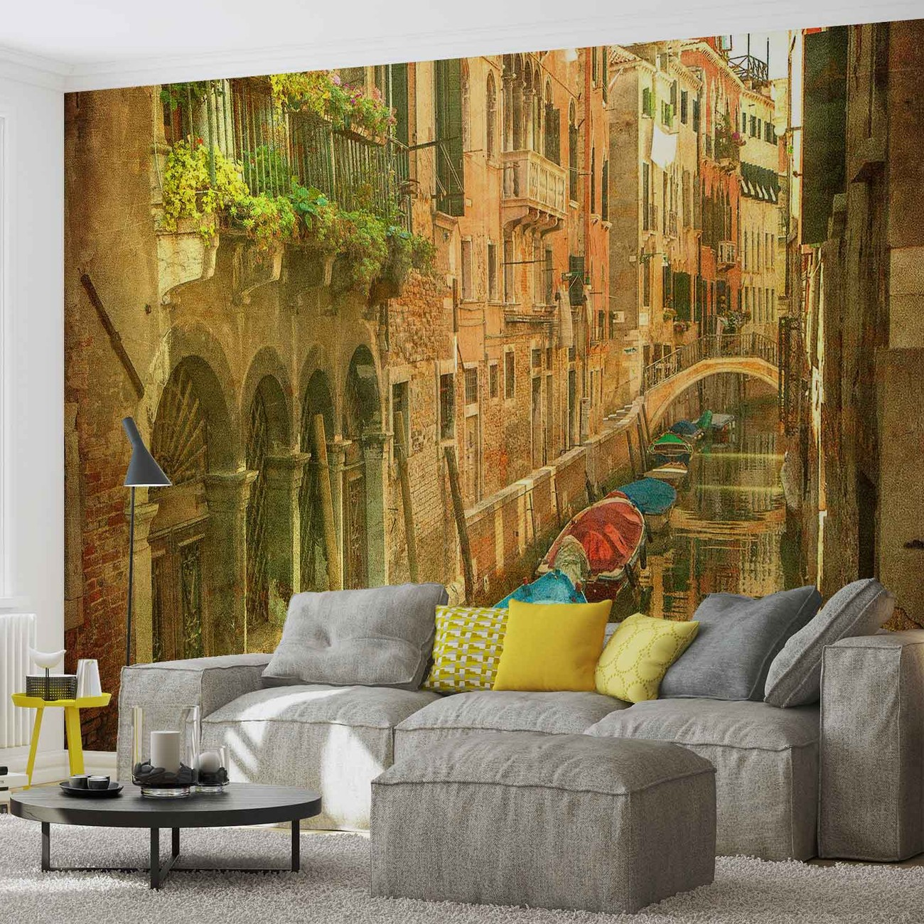 City venice canal wall paper mural buy at europosters for Canal fluminense mural