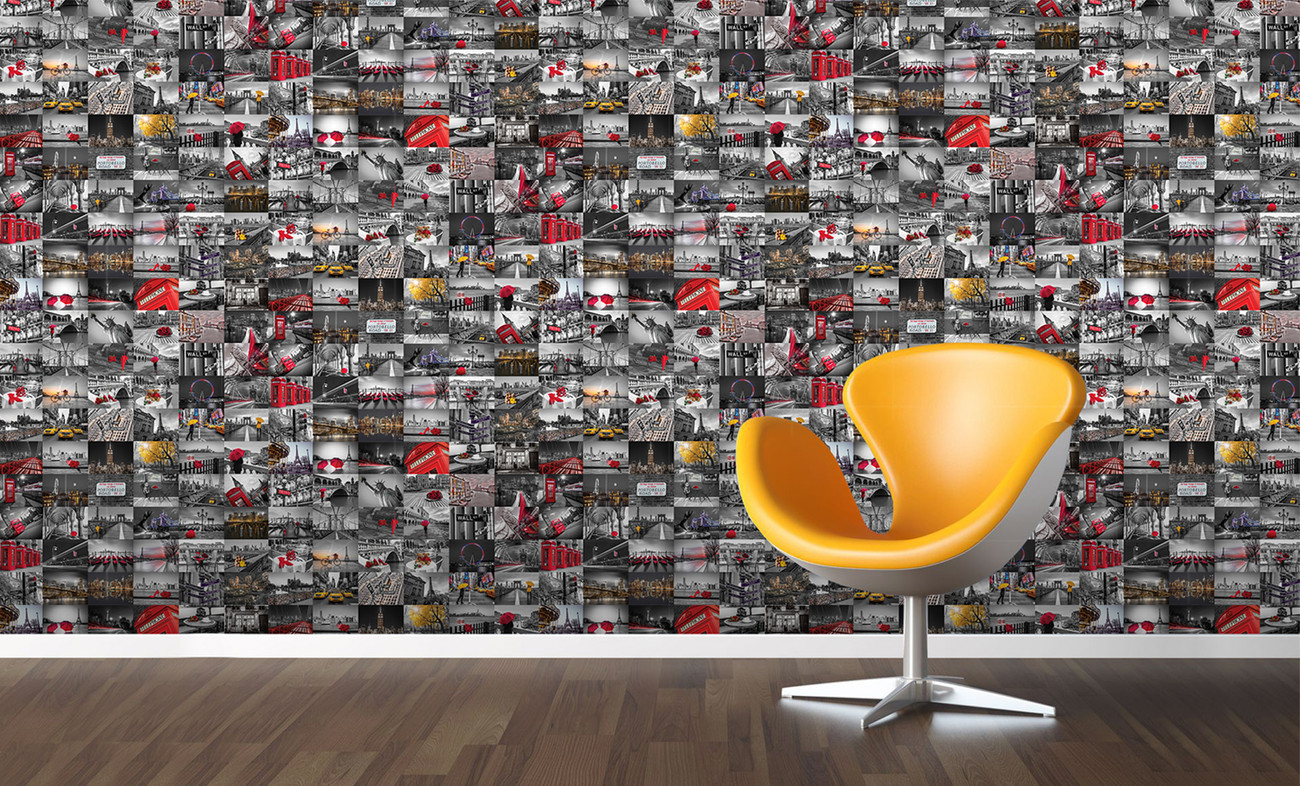 Cityscape wall mural buy at europosters for Cityscape murals photo wall mural