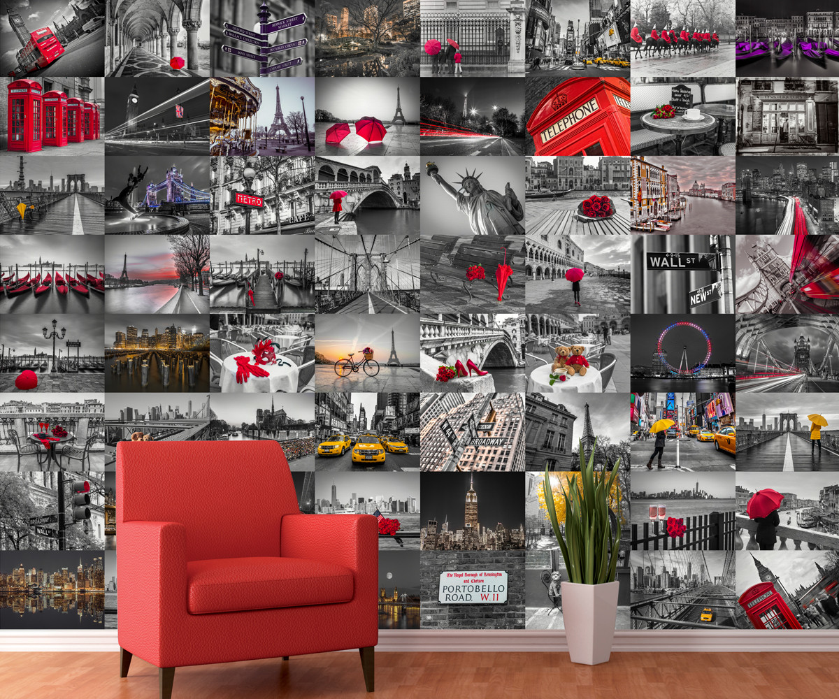 Cityscape Wall Mural Buy At Abposters