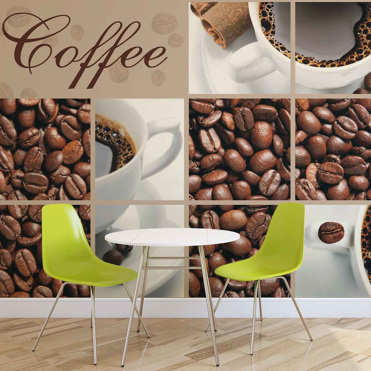 Coffee cafe wall paper mural buy at europosters for Cafe wall mural