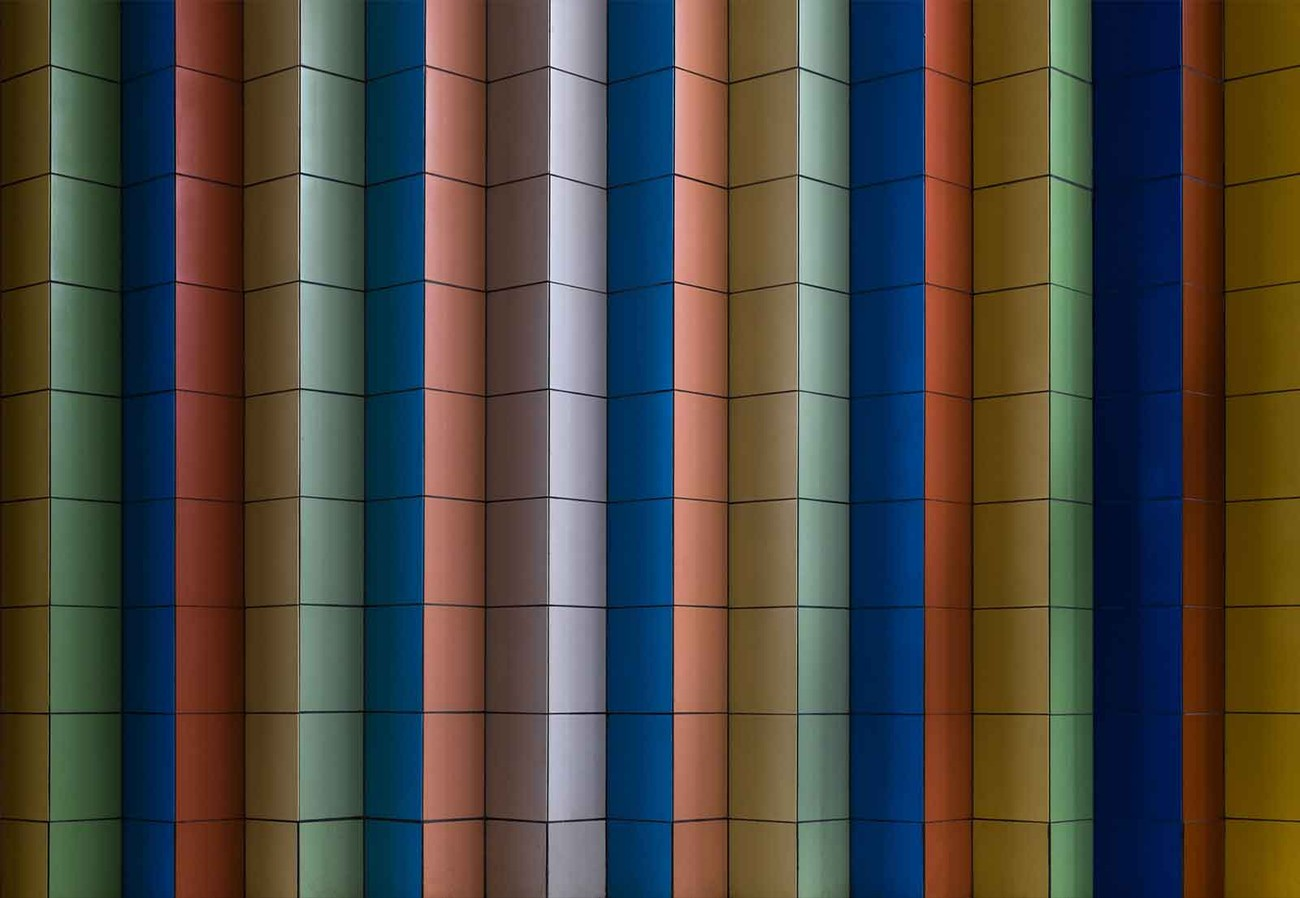 Colorful stripes wall paper mural buy at europosters for Buy mural wallpaper
