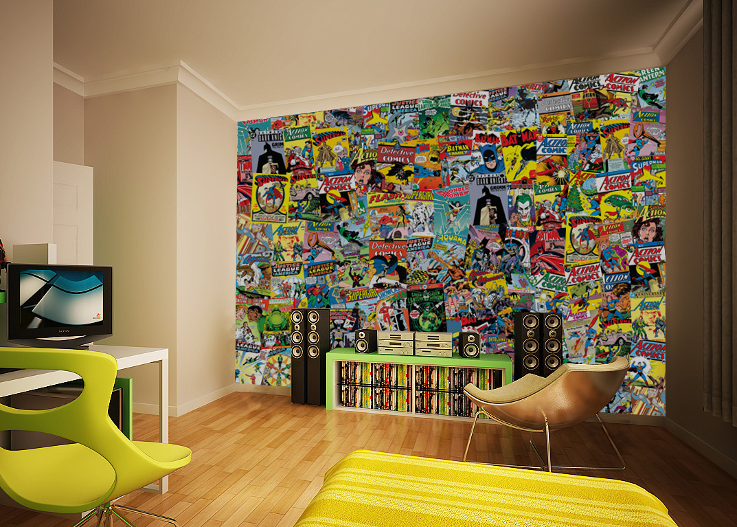 comics wall mural buy at europosters. Black Bedroom Furniture Sets. Home Design Ideas