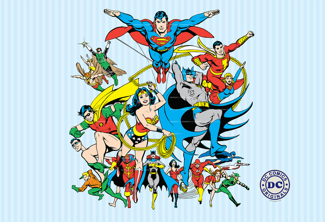 Dc Comics Collage Wall Mural Buy At Europosters
