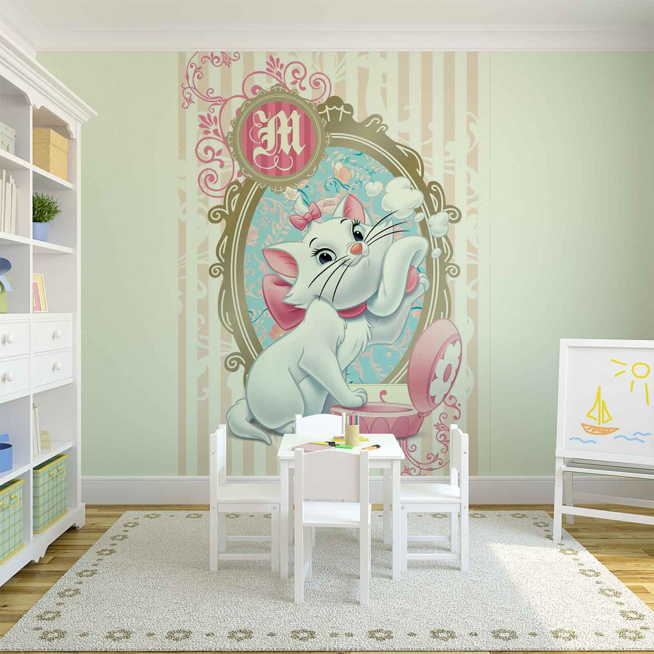 Disney aristocats marie wall paper mural buy at europosters for Disney mural wallpaper