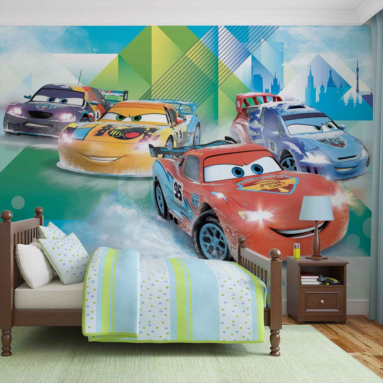 Disney Cars Lightning Mcqueen Camino Wall Paper Mural Buy At