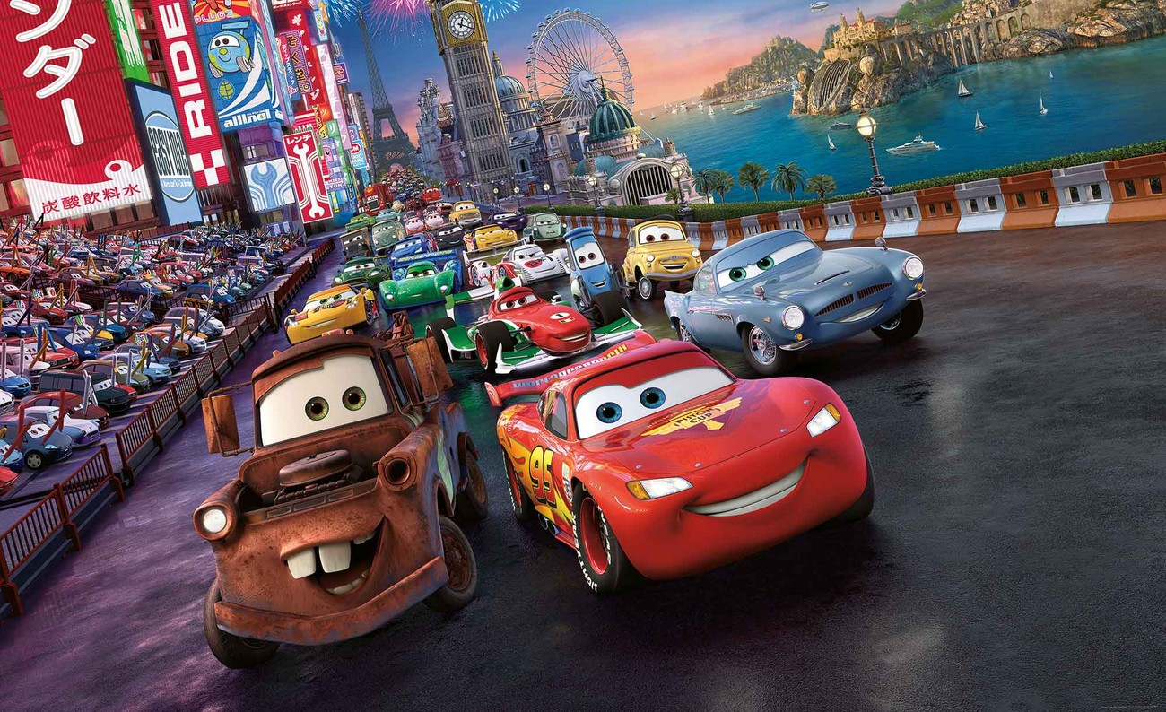 Disney cars lightning mcqueen mater wall paper mural buy at europosters - Image cars disney ...