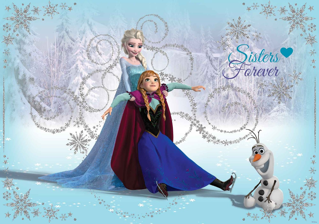 Disney Frozen Elsa Anna Olaf Wall Paper Mural