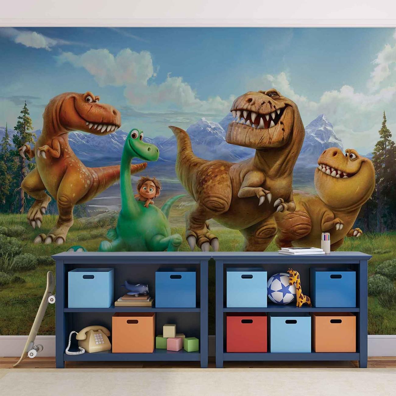 Disney good dinosaur wall paper mural buy at europosters for Dinosaur mural wallpaper
