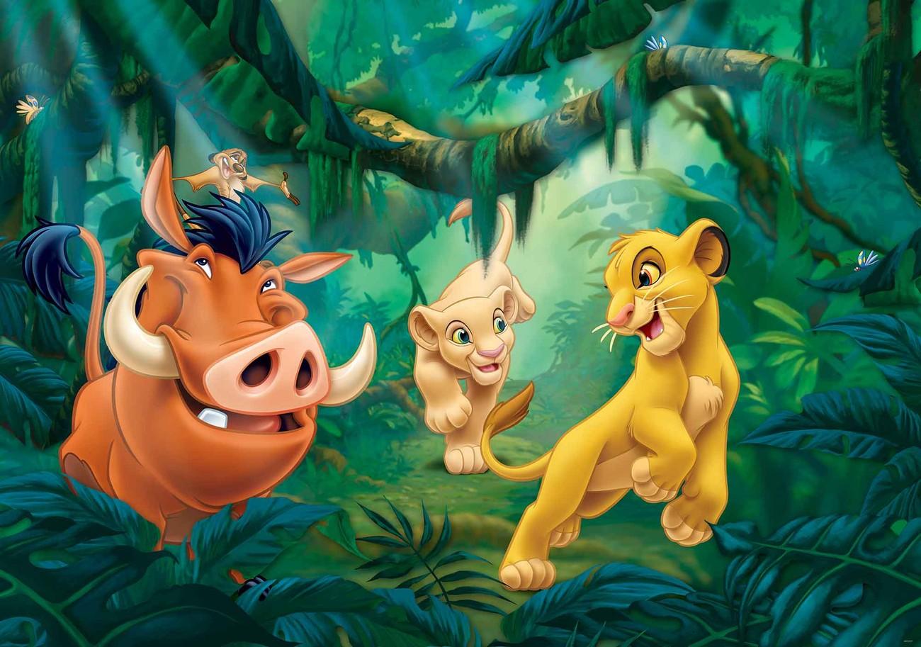 Disney Lion King Pumba Simba Wall Paper Mural Buy At Europosters