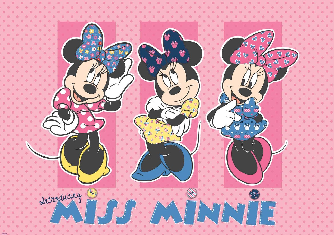 Mickey Mouse Wall Mural Disney Minnie Mouse Wall Paper Mural Buy At Europosters