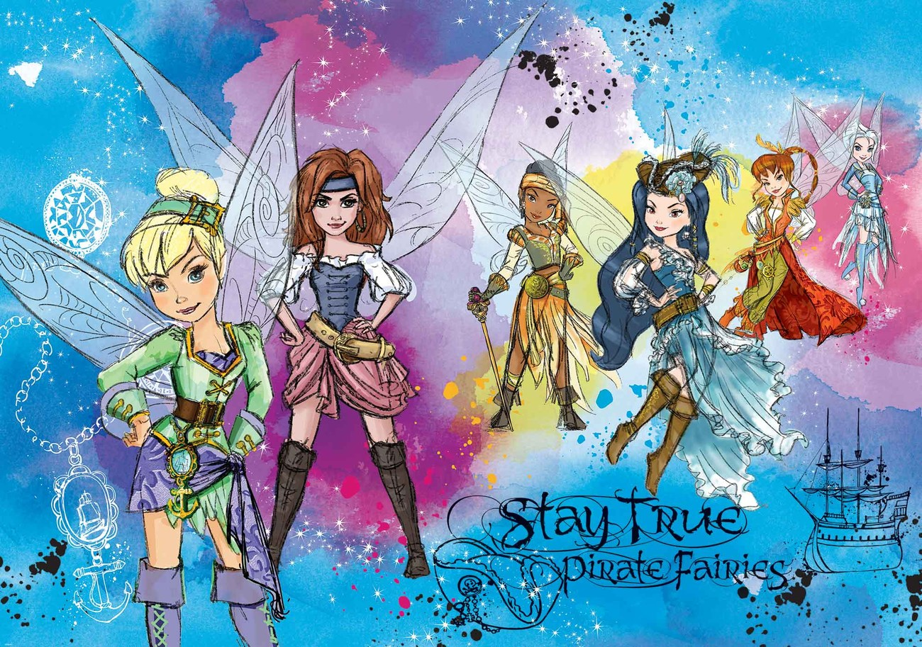 Disney pirate fairies wall paper mural buy at europosters for Fairies wall mural