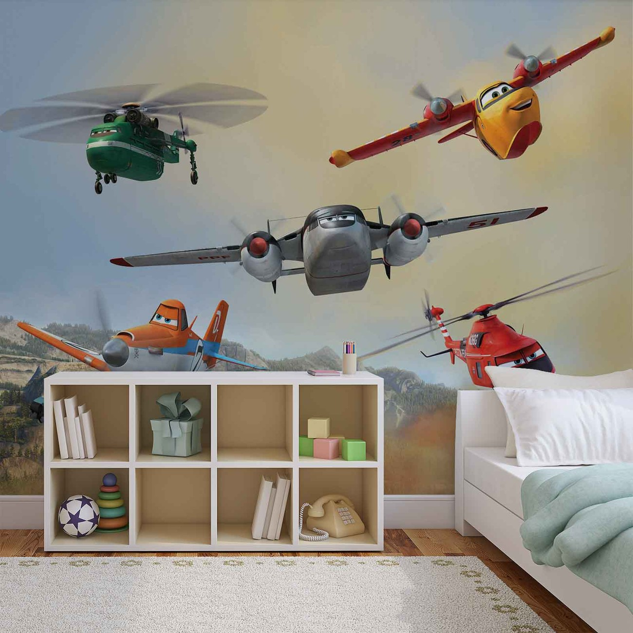 Disney planes dusty blade dipper cabbie wall paper mural for Disney planes wallpaper mural