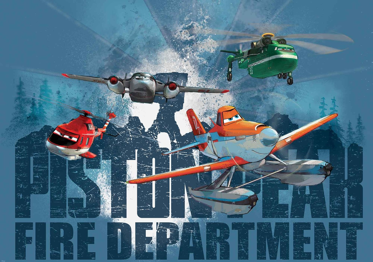 Disney planes dusty blade windlifter wall paper mural for Disney planes wallpaper mural