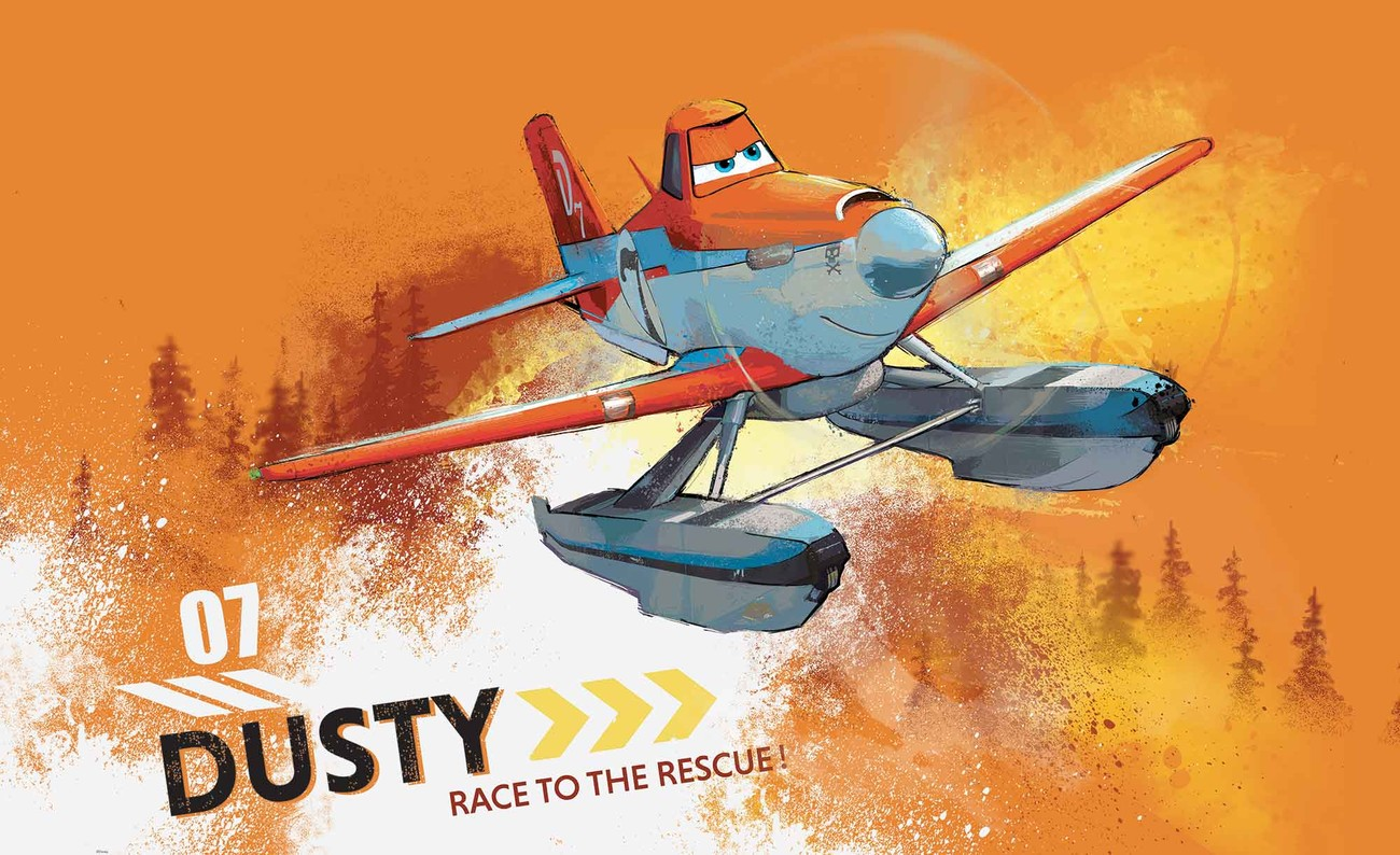 Disney planes dusty crophopper wall paper mural buy at for Disney planes wallpaper mural