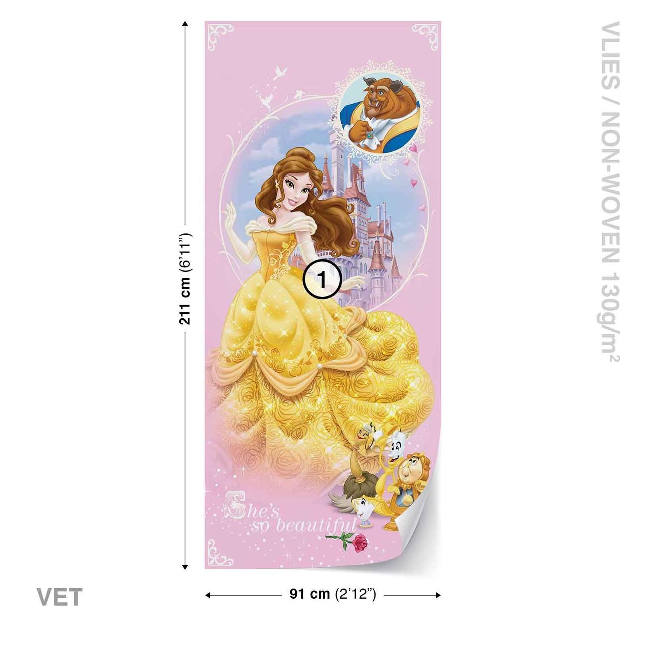Disney Princesses Beauty Beast Wall Paper Mural   Buy at EuroPosters