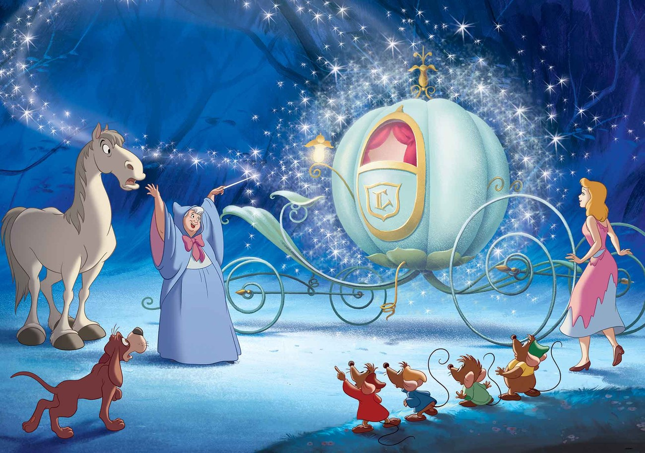 Disney princesses cinderella wall paper mural buy at europosters original price altavistaventures Image collections