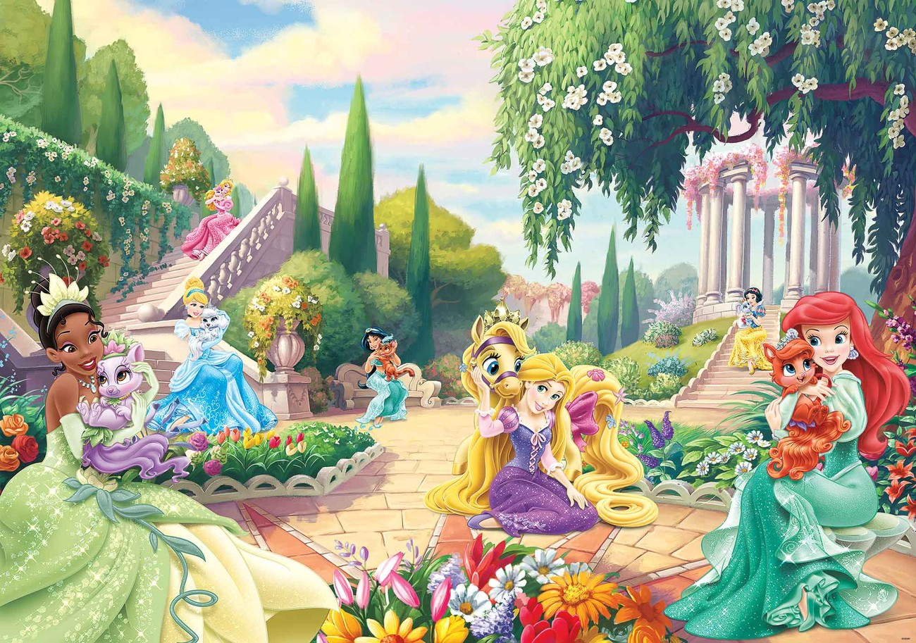 Disney princesses tiana ariel aurora wall paper mural for Disney wall mural uk
