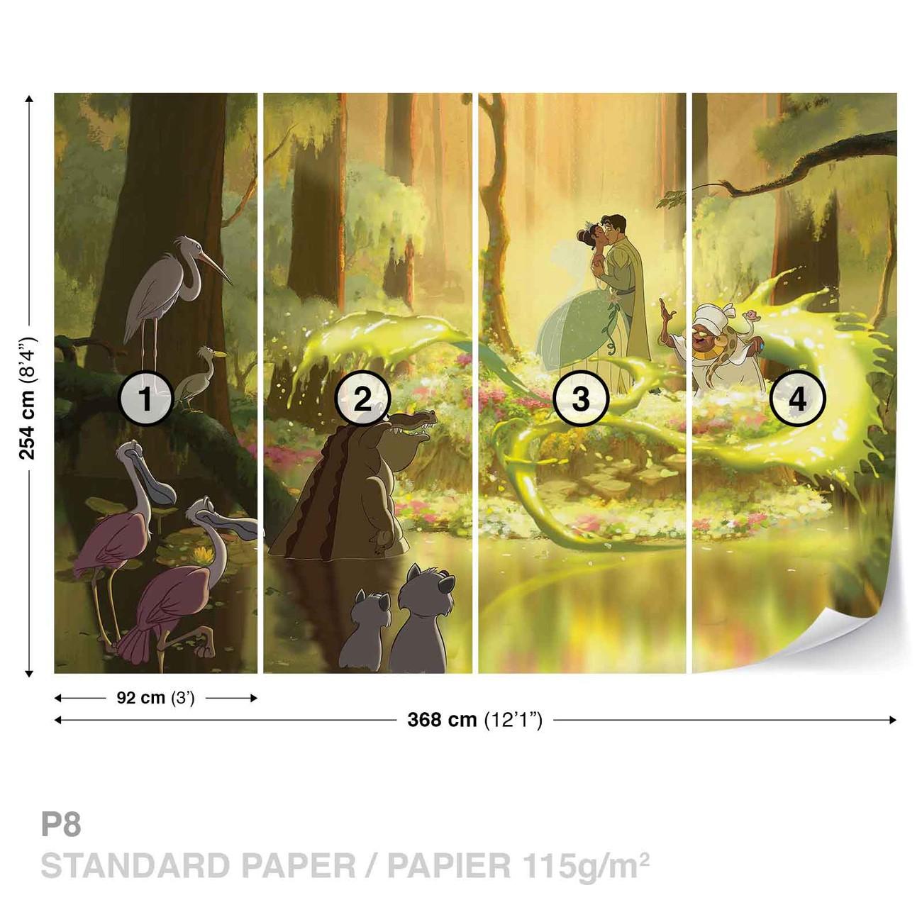 Disney Princesses Tiana Frog Kiss Wall Paper Mural | Buy at ...