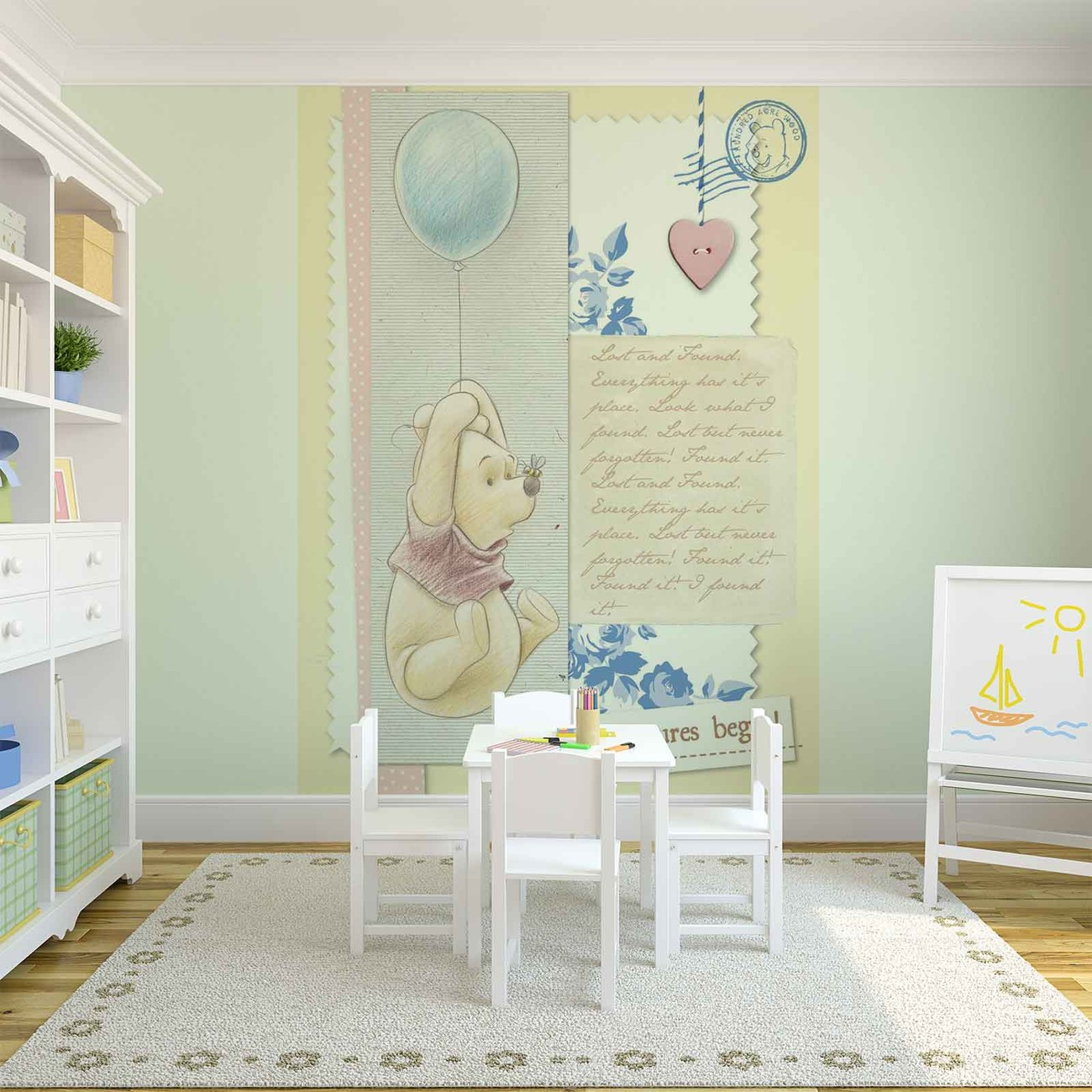 Disney winnie pooh wall paper mural buy at europosters for Disney wall mural uk
