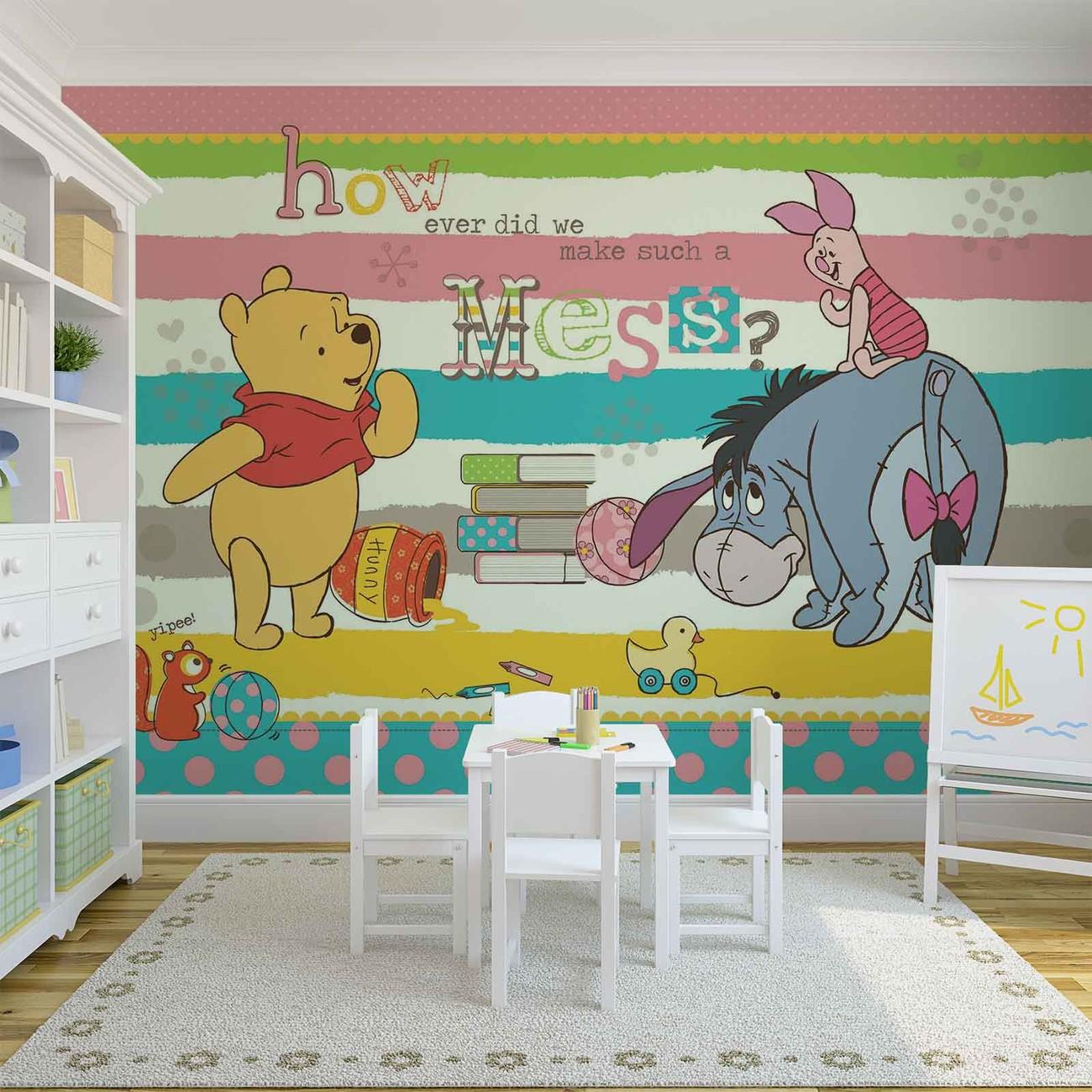 Eeyore Wall Stickers Disney Winnie Pooh Eeyore Piglet Wall Paper Mural Buy At