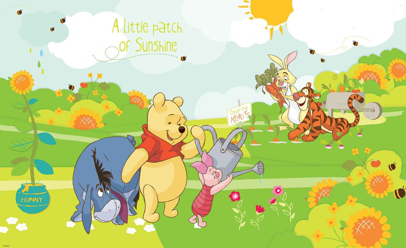 disney winnie pooh eeyore piglet tigger wall mural for childrens wall murals and ability to impact children