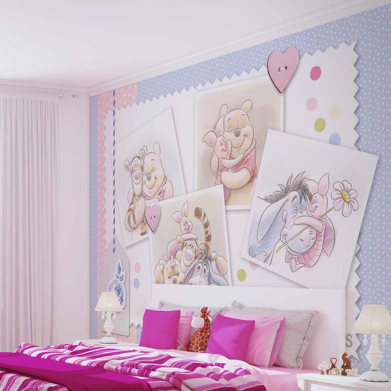 Eeyore Wall Stickers Disney Winnie Pooh Piglet Eeyore Tigger Wall Paper Mural