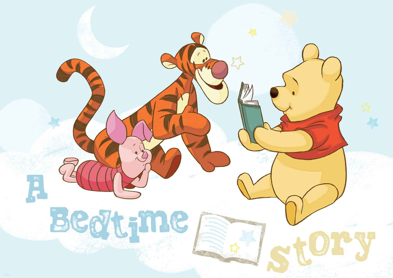 disney winnie pooh piglet tigger wall paper mural buy at europosters. Black Bedroom Furniture Sets. Home Design Ideas