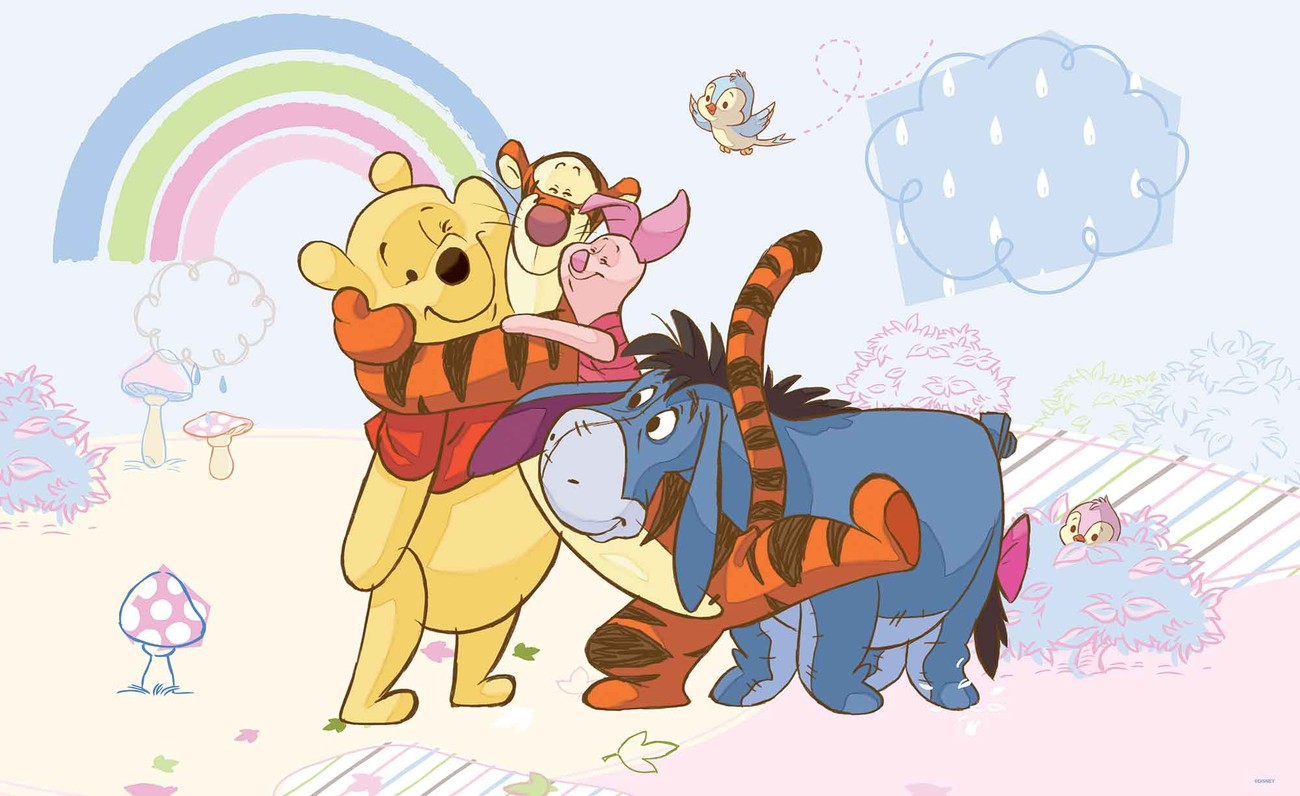 disney winnie pooh piglet tigger eeyore wall mural for winnie the pooh wall stickers owl animal nursery baby kids