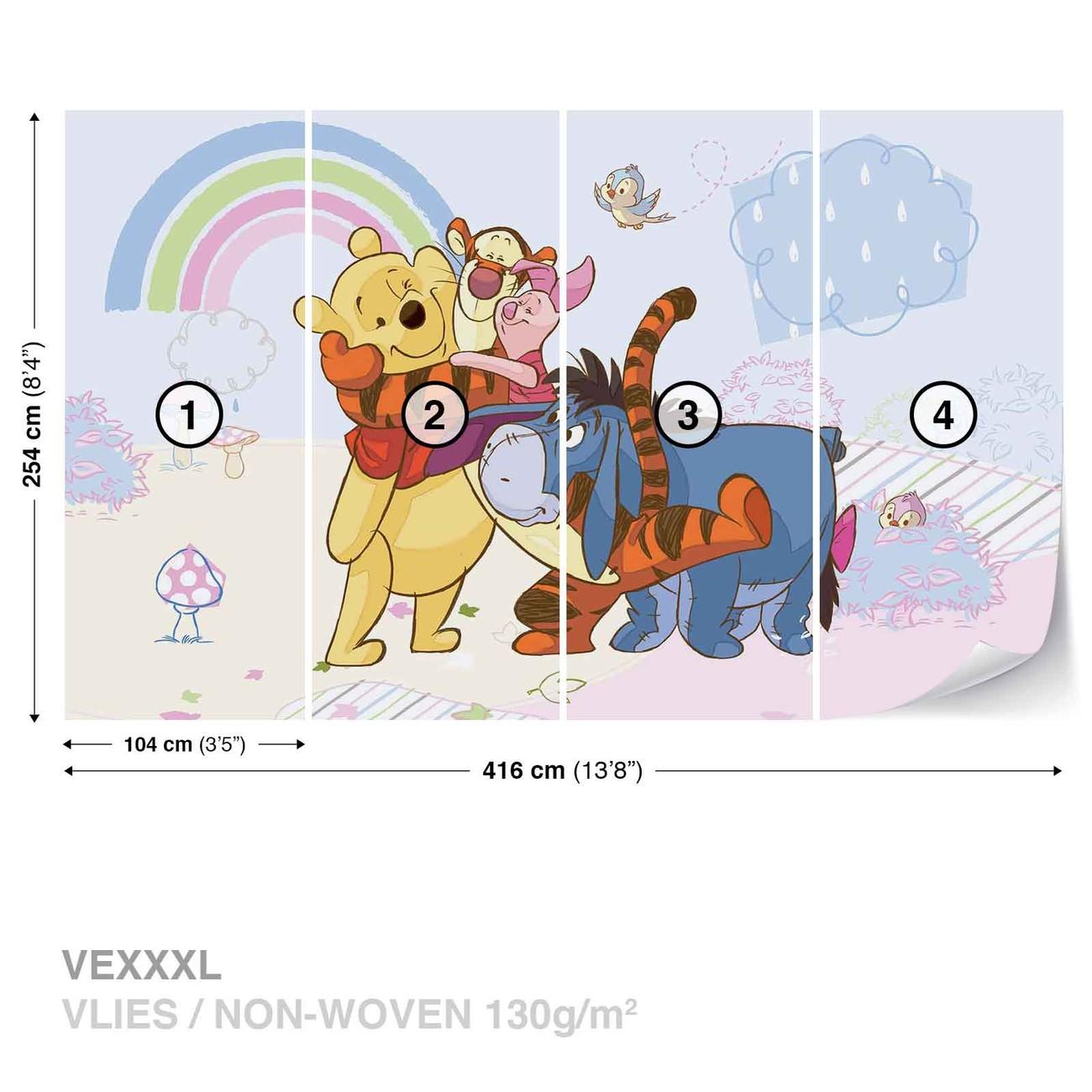 Eeyore Wall Stickers Disney Winnie Pooh Piglet Tigger Eeyore Wall Paper Mural