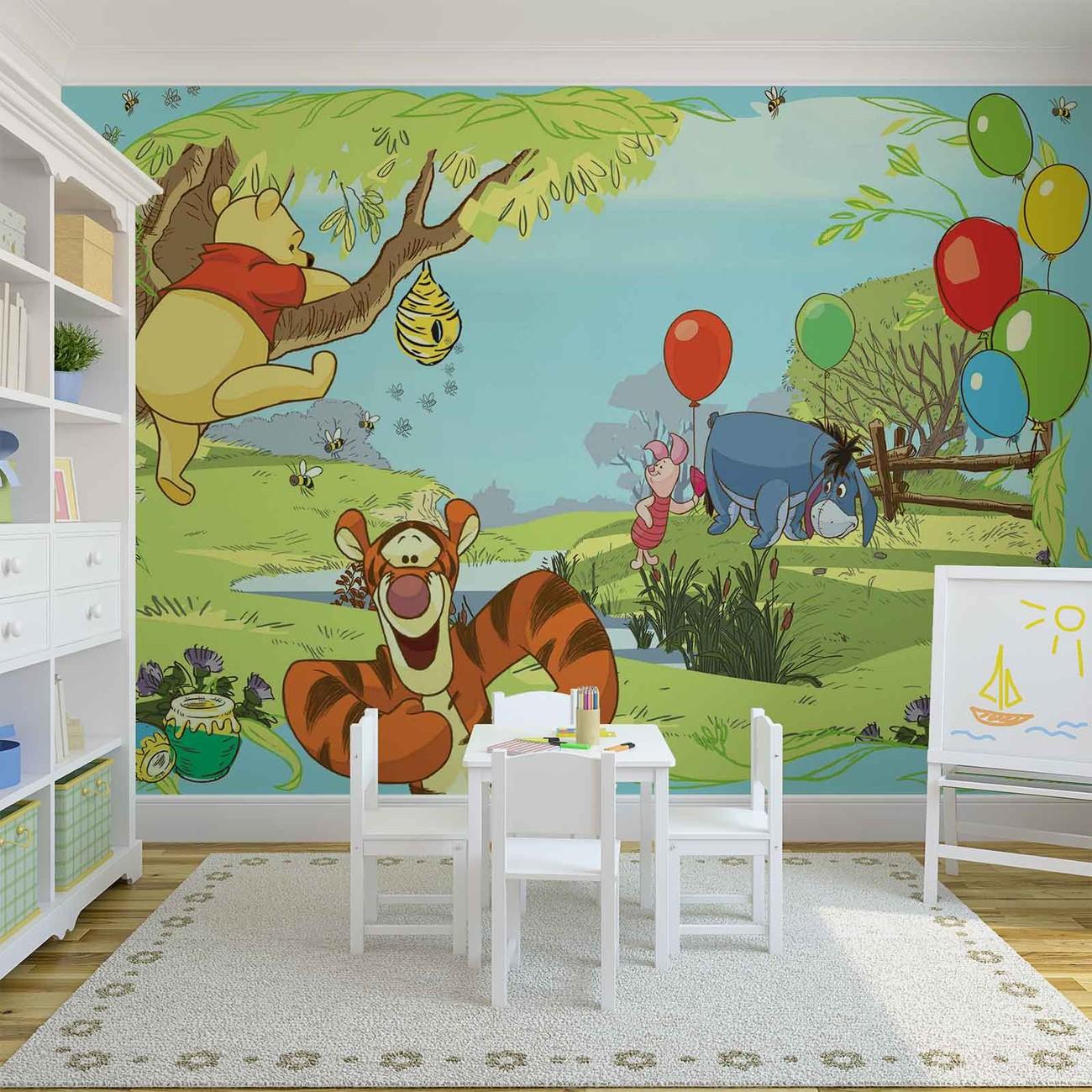 Eeyore Wall Stickers Disney Winnie Pooh Tigger Eeyore Piglet Wall Paper Mural