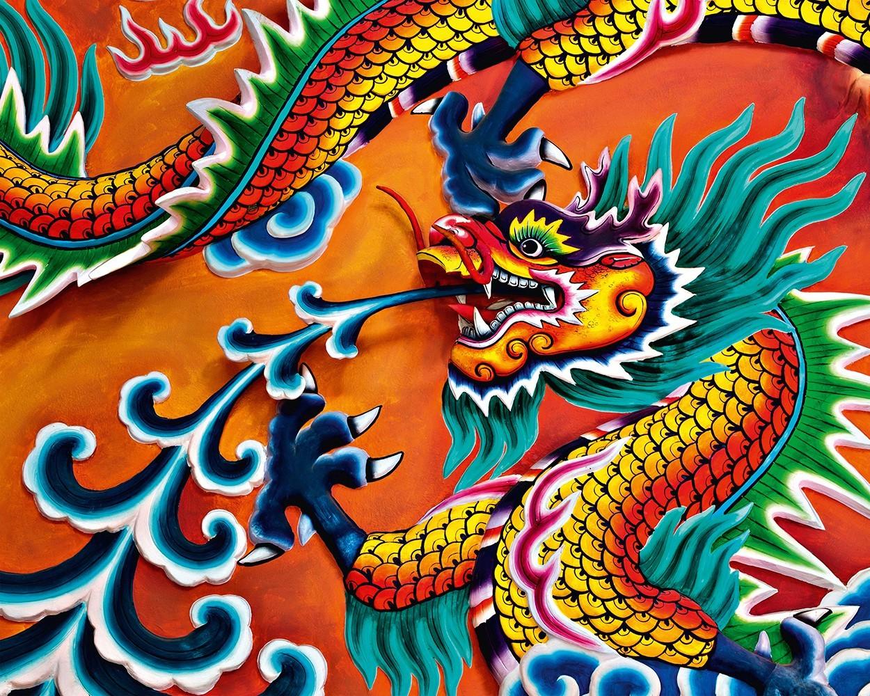 Dragon wall mural buy at europosters for Dragon mural wallpaper