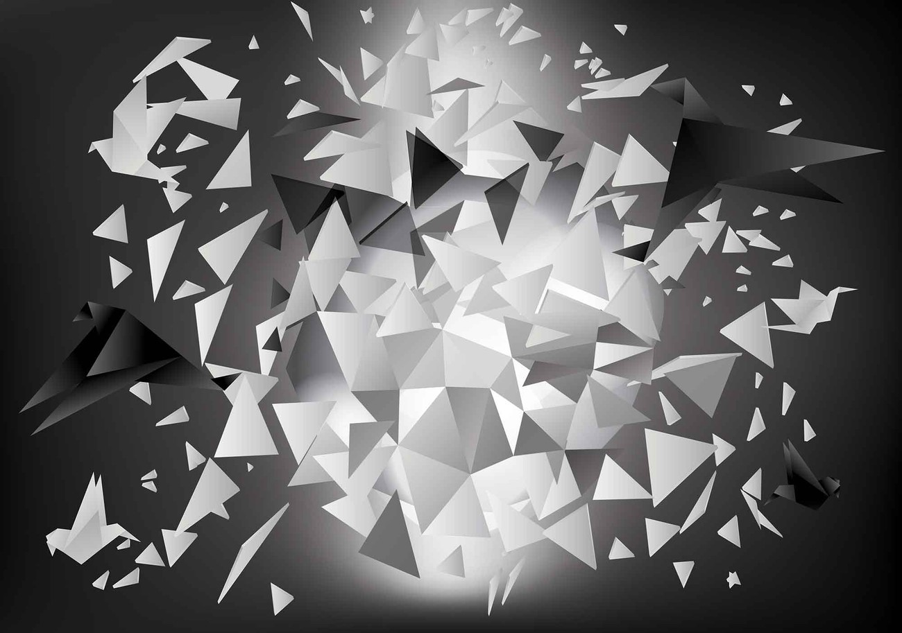 Explosion Birds Abstract Wall Paper Mural
