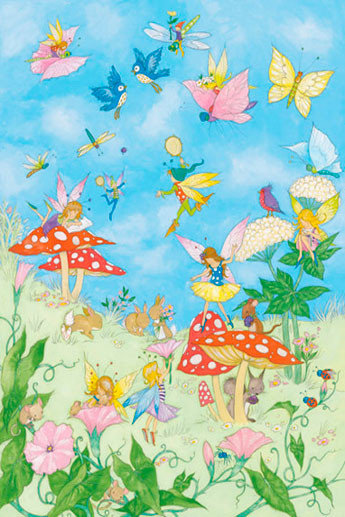 Fairy tales wall mural buy at europosters for Fairies wall mural