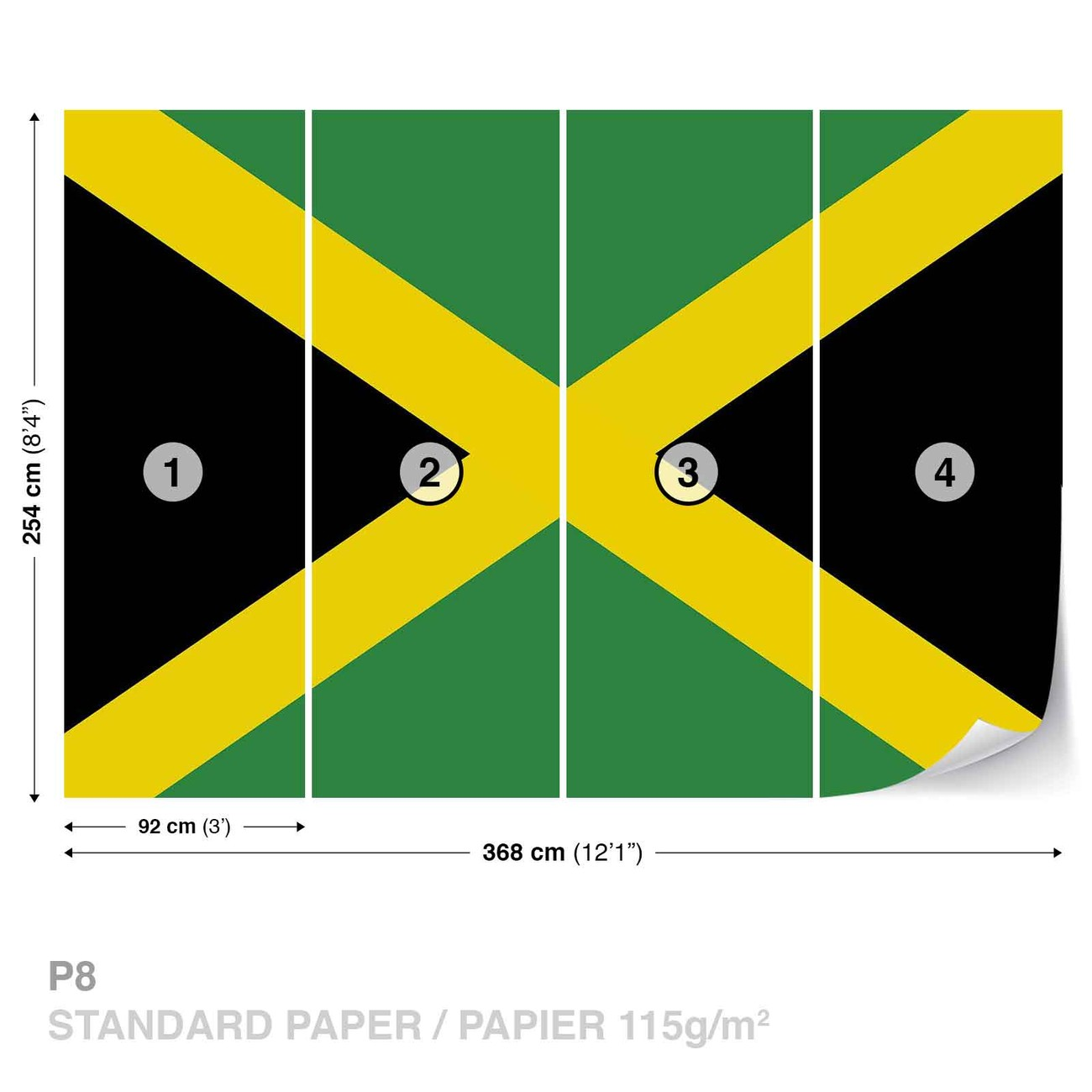 Flag Jamaica Wall Paper Mural | Buy at EuroPosters