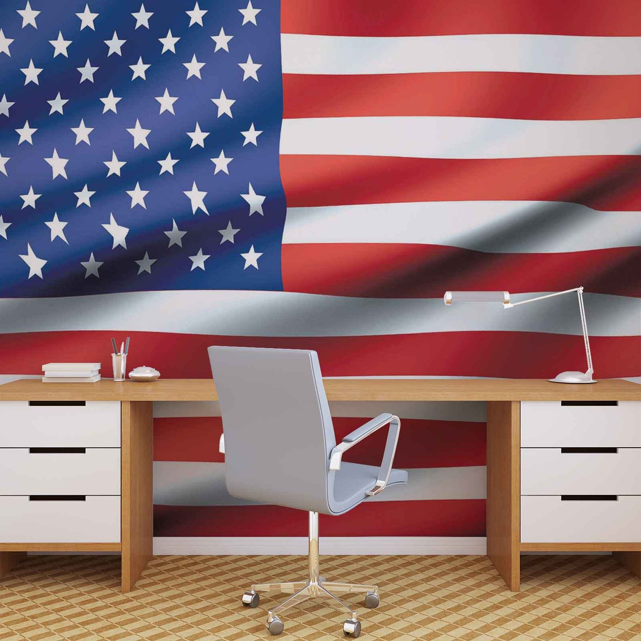 Flag United States Usa Wall Paper Mural Buy At Europosters