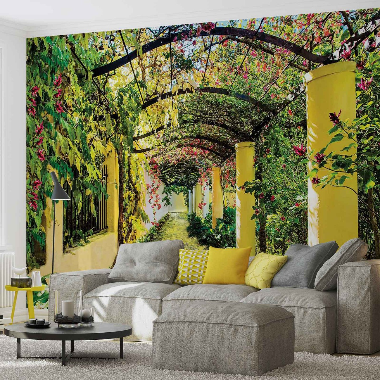 Flowers floral garden wall paper mural buy at europosters for Mural garden